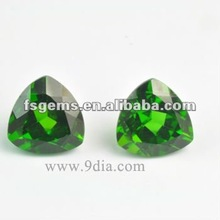 Natural green Chrome Diopside Trillion cut for Silver and Gold Jewelry