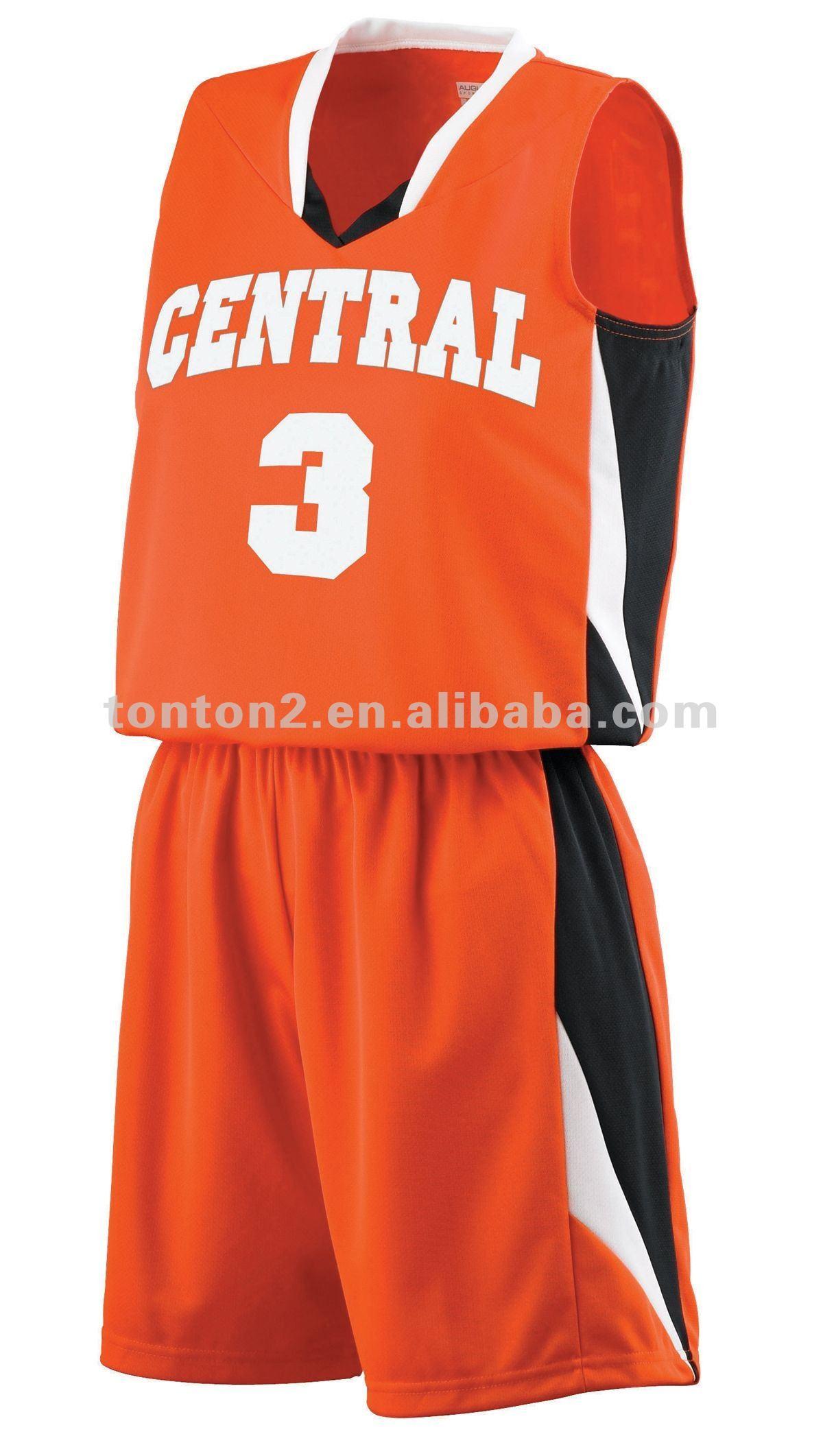 De Color Naranja Los Uniformes Del Baloncesto