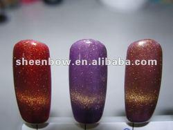 2012 Hot CAT EYE nail polish made by Sheenbow pigment powder