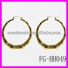 fashion bamboo like big round special earrings