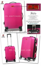 ABS Zip Trolley Case with 4 wheels ,2012 fashion style,sunny hard case,suitcase