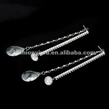 Korea style jewelry star earrings-Chili crystal diamond eardrop