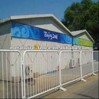 galvanized then pvc coated temporary fence(ISO9001 anping factory))