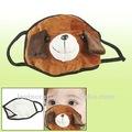 Crianças marrom preto coelho Design Plush Eye sono capa máscara boca