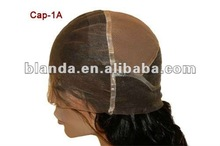 Full lace cap stretch in crown human hair wig