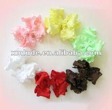 2012 multicolor double ruffle ribbon bow