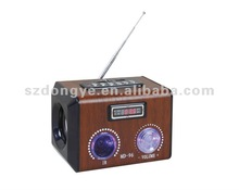 sd mmc card reader HiFi speaker box wooden case with usb remote contorl