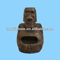 Garden supply outdoor bbq moai chimineas
