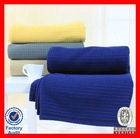 Double sided blanket soft blanket solid color brushed polar fleece fabric