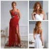 Remarkable Spaghetti Strals White Red Prom Dresses 2013
