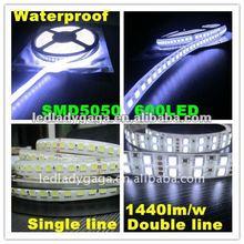 2012 new 24V DC 1440lm/m 5M high brightness 5050 led strip 600 led light