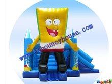 Spongebob Inflatables,Bounce slide castle for children jumper(COM-533)