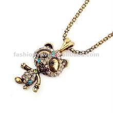 Fashion flash diamond jewelry necklace-little bear