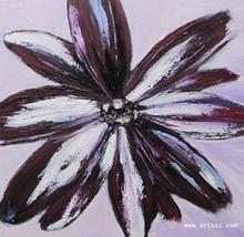 modern handmade decorative flower oil painting on canvas 2012