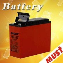 Maintenance free Front Terminal Battery 12v55ah