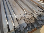 Steel scaffolding angle beam welded edge loading walk planks on the beam