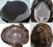 2012 fashion 100% brazilian hair wigs for black men price