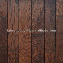 """White oak 3"""" width engineered distressed wood flooring"""