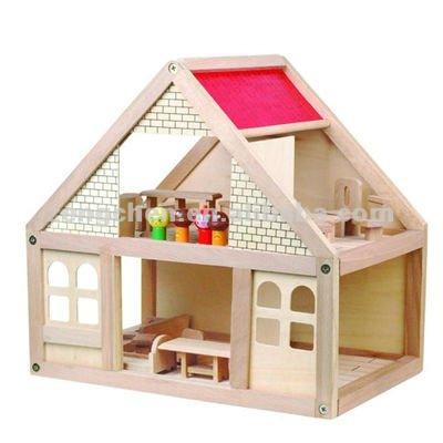 Juguete de madera casa de juguete juguetes otros y hobby - Juguetes en casa ...