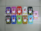 Little Penguin Silicone gel case protector cover for iphone 4