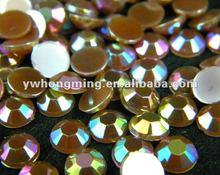 2012 Newest jewelry acrylic rhinestone beads,round flatback acrylic rhinestone,7mm coffee,for grament decoration!