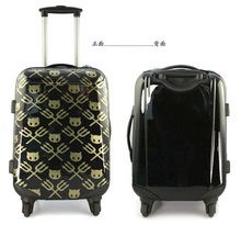 cute cat printing PC trolley case/PC luggage