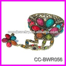 2012 fashion retro alloy rhinestone metal bangle cuff