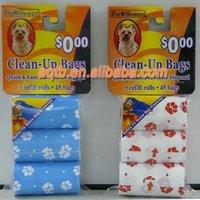 degradable dog shaped pet waste poop bag