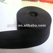 Woven black folded elastic