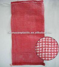 2012 super quality virgin material mesh bag for oranges with drawstring for vegetables provide OEM services