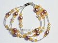 el último diseño de la manera hilo macrame hecha a mano pulseras de hecho de la perla