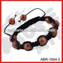 brown crystal ball shamballa bracelet