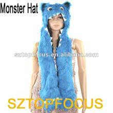 Faux fur baby hat monster winter caps manufacture