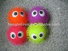 9inch long hair big eye puffer ball
