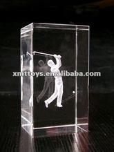 crystal cube laser engraving figurine