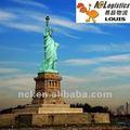 China carga mar transporte de cargas para New York Unite unidos por mais barato as taxas do transporte