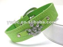 Wholesale Fashion crystal crown leather wrist band bracelet(B102217)