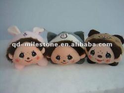 cute cartoon plush toy desktop cell phone holder