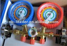 Manifold with pressure gauge, Manifold gauge set,Refrigerator parts,