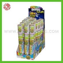 Eco amigável cheio impresso durável indicação do contador acrílico caixa distribuidora de doces
