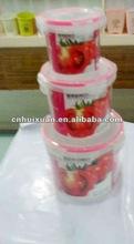 3pcs/set Round plastic seal food container