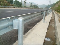 highway guardrail dimentions