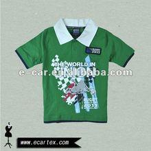 boys football t-shirt with collar
