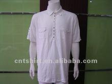 Fitted white 100 bamboo fiber men's bulk plain t-shirts