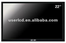 16:10 lcd cctv display 22 with HDMI/DVI/BNC/VGA input