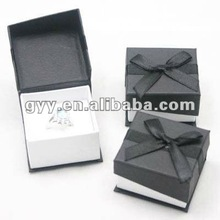 Special shape gift paper ring packaging box with bowknot ribbon