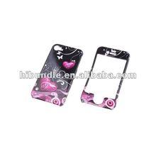 for iphone Purple Black Heart Hard 2 Piece Case