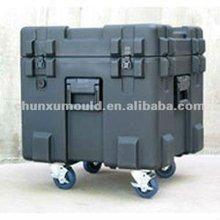 Rotational making Wheeled tool box , Plastic tool box rotomolds . Roto molder China