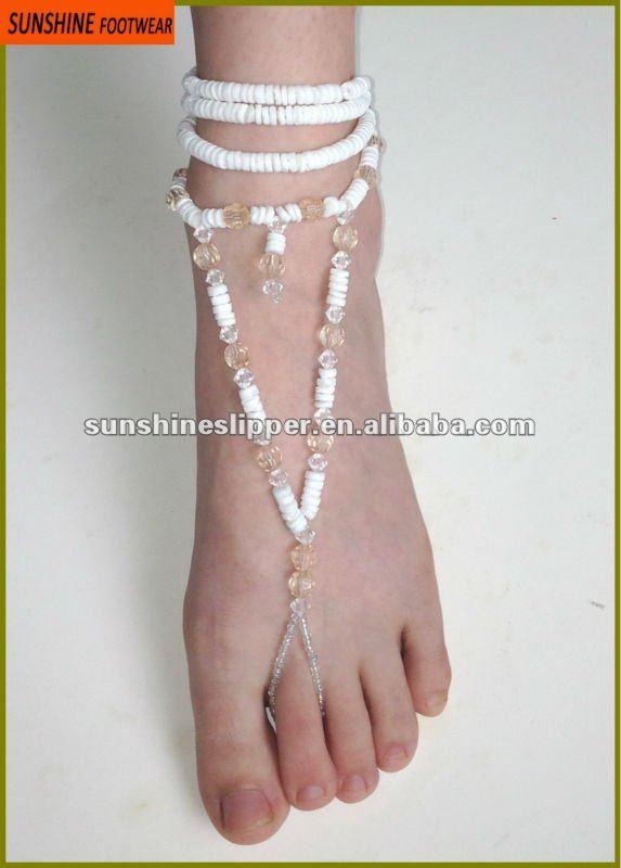 de alta calidad de moda pulseras para el tobillo del pie de cuentas de la joyería