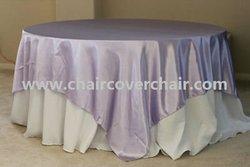 lavender - weeding satin table overlay